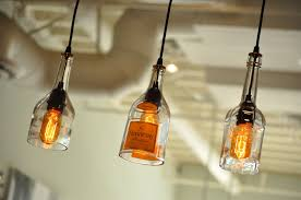 Decorative Wine Bottles With Lights by Bottle Ceiling Light When Good Lighting Complements General