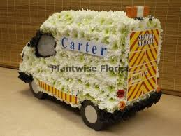 Ford Transit Van 3D Funeral Wreath Made In Flowers