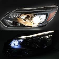 2014 ford focus fit halogen model led drl projector headlights