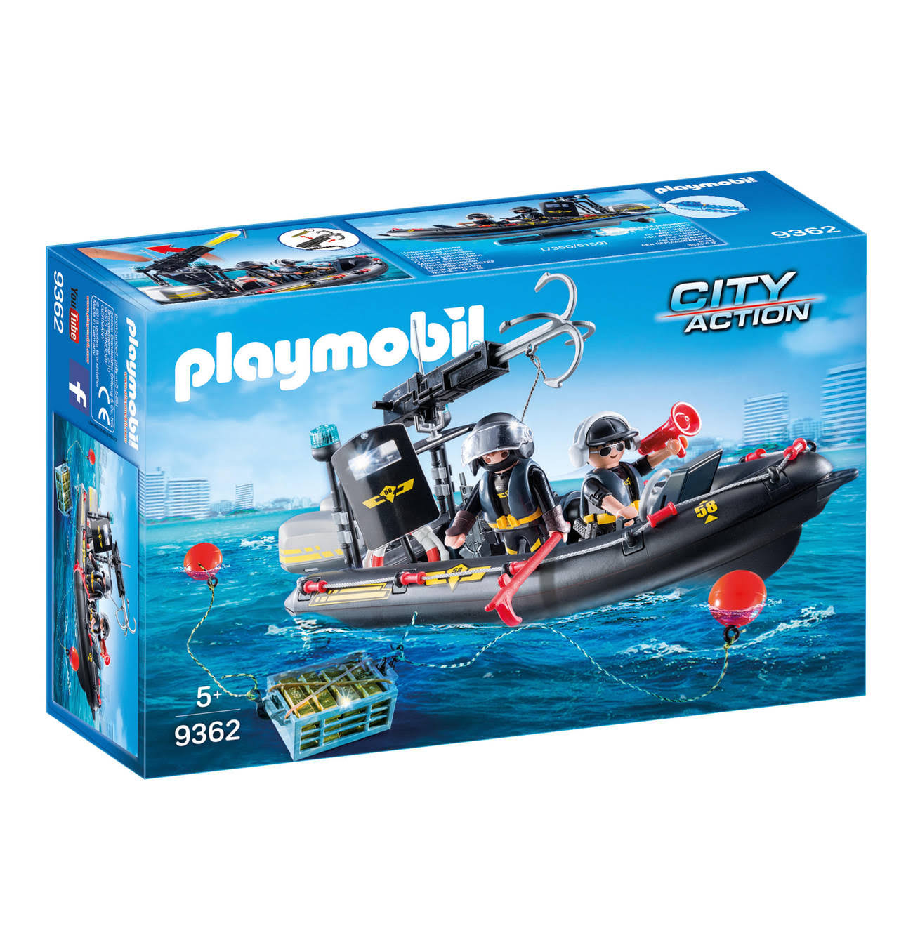 Playmobil City Action Tactical Unit SWAT Boat Playset