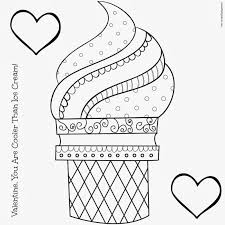 Ice Cream Coloring Pages For Kids Cone Page