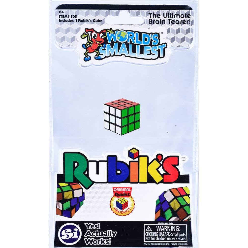 Worlds Smallest Rubik's Cube Mini Puzzle Toy Miniature