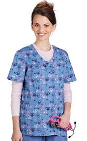 Ceil Blue Print Scrub Jackets by Animal Print Scrub Tops Veterinary Apparel