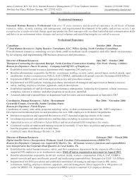 Sample Human Resources Resume Resource Assistant Skills Hr Resumes For Senior