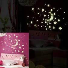 details zu zu hause mond und sterne im dunkeln leuchten schlafzimmer mauer aufkleber