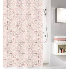 kleine wolke duschvorhang bloom pearl 180 cm x 200 cm rosa