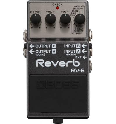 Boss Reverb RV 6 Guitar Effect Pedal