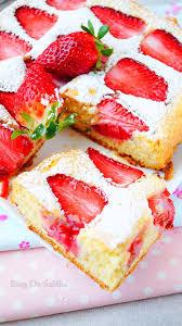 gâteau moelleux aux fraises aux delices du palais