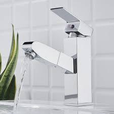 auralum wasserhahn fürs bad mit herausziehbare brause mischbatterie für waschtisch und badezimmer