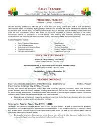 Physical Education Resumes Daycare Teacher Resume Preschool Sample Page Samples