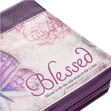 Purple Botanic Butterfly Blessings Blessed Bible Book Cover Jeremiah 177 Large 0 2