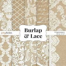 Free Burlap Scrapbook Paper Lace Wedding Digital For Rustic Invitations And More