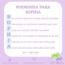Poeminha para Sophia e Sofia