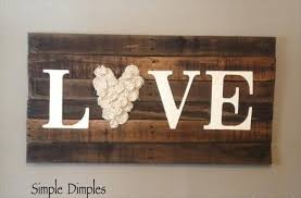 Easy To Make Love Sign Using Pallet Wood