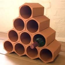 range bouteille en brique porte bouteilles de vin en terre cuite ensemble de 10 fr