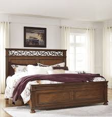 coleman bed lazzene medium brown panel bed from coleman furniture