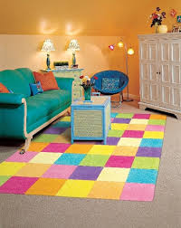 child area rugs square yellow purple pink block pattern within