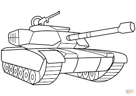 Click The Military Tank Coloring Pages