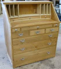 oak writing bureau furniture oak homes joinery oak writing bureau with bleached ash letter rack
