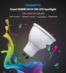 gledopto gl s 003z zigbee smart rgbw gu10 5w led scheinwerfer für zuhause
