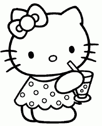 Hello Kitty Cartoon Characters Coloring Pages