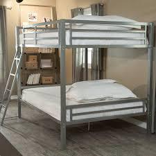 amazon com duro hanley full over full bunk bed silver kitchen