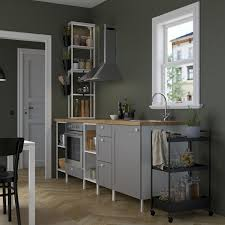 enhet kitchen white grey frame 243x63 5x241 cm