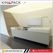 Factory Cheap Modern Wood White Front Desk Shop Cash Counter Used Hot Sale Reception