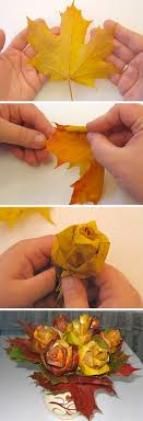 A Super Fun Fall Craft DIY Leaf Rose Bouquet Easy