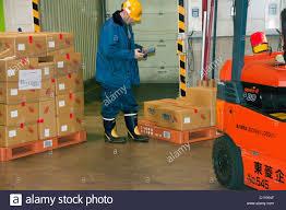 100 Truck Loader 10 Truck Loader Forklift With Full Load Onpallet In A Warehouse In