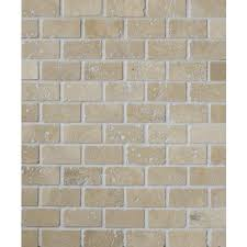 travertine white tumbled brick mosaic 23x50mm travertine bricks