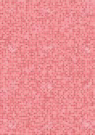 Bathroom Wall With Small Pink Mosaic Tiles Stock Photo