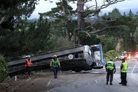 100 Truck Driver Accident Driver Fortunate To Escape Serious Injury After Accident At