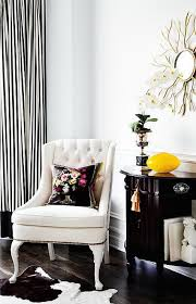 Yellow And White Striped Curtains by Black And White Striped Curtains Transitional Living Room