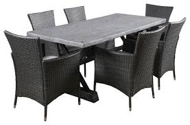 7 Piece Patio Dining Set by Myrtle Outdoor Dining With Cushions 7 Piece Set Contemporary