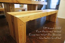 West Elm Emmerson Bed by Diy Knock Off Faux Reclaimed Wood Emmerson West Elm Benches