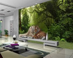 beibehang custom tapete wohnzimmer schlafzimmer hintergrund 3d tapete wald tiger dschungel sofa tv hintergrund wand tapete