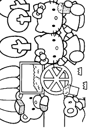 Printable Hello Kitty And Friends Coloring Sheet