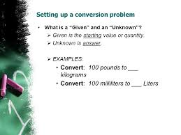 100 milliliters to liters module a 5 conversion and cancel ppt