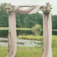 Ceremony Arch Simple Blush Look
