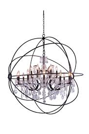 Orb Chandelier With Crystal Gold Light Fixture