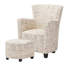 100 Accent Chairs With Arms And Ottoman Baxton Studio Benson Contemporary Beige Fabric Upholstered