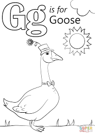 Click The Letter G Is For Goose Coloring Pages