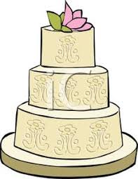 A Formal Wedding Cake Clip Art Image