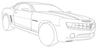 Click To See Printable Version Of Chevrolet Camaro Coloring Page