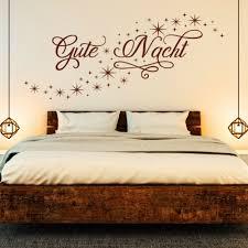 wandtattoo gute nacht sternen himmelschlafzimmer deko