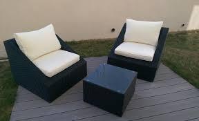 canapé de jardin 2 places salon de jardin 2 places table de jardin promo maisonjoffrois