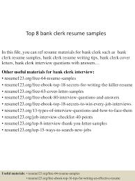 Top8bankclerkresumesamples 150424022727 Conversion Gate01 Thumbnail 4cb1429860498