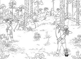 Free Printable Hunting Coloring Pages