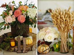 Rustic Autumn Wedding In Maine Floral Designer Flora Fauna Photographer Michelle CenterpiecesFall DecorationsWedding Tables
